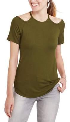 Miss Sportswear Women's Short-Sleeve Crewneck T-Shirt With Cutout Detail