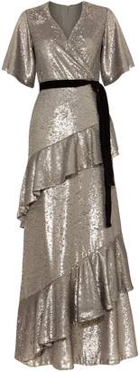 Next Womens Phase Eight Silver Starlette Sequined Dress