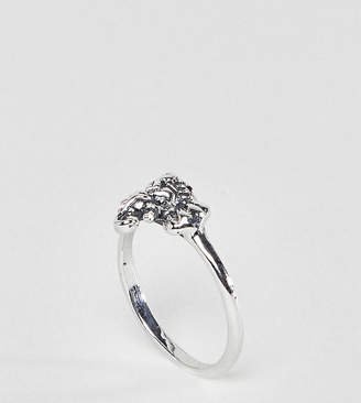 Asos DESIGN ring with elephant detail in sterling silver