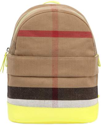 Burberry Classic Check Cotton Canvas Backpack