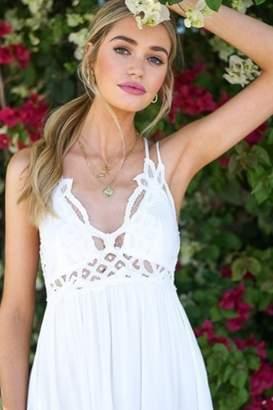 La Miel Boho-Chic Crochet Lace Dress