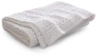 Ralph Lauren Davies Cable-Knit Throw Blanket