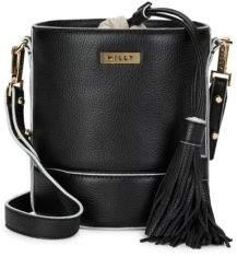 Milly Tasseled Leather Bucket Bag