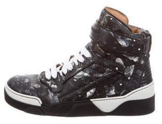 Givenchy Printed High-Top Sneakers black Printed High-Top Sneakers