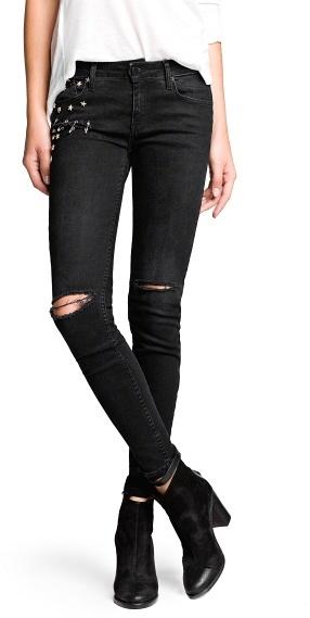 Mango Outlet Super Slim-Fit Studded Stone Jeans