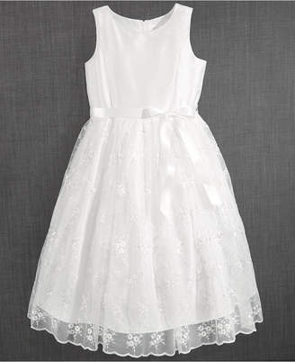 Us Angels Blush by Embroidered Communion Dress, Little Girls