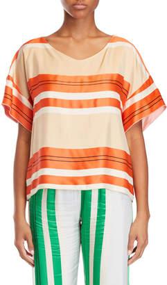 Alysi Striped Silky Top