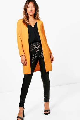 boohoo Turn Up Cuff Fine Knit Cardigan