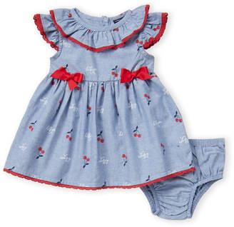 508d3d337e7ac0 Tommy Hilfiger Newborn Girls) Two-Piece Chambray Cherry Print Dress &  Bloomers Set