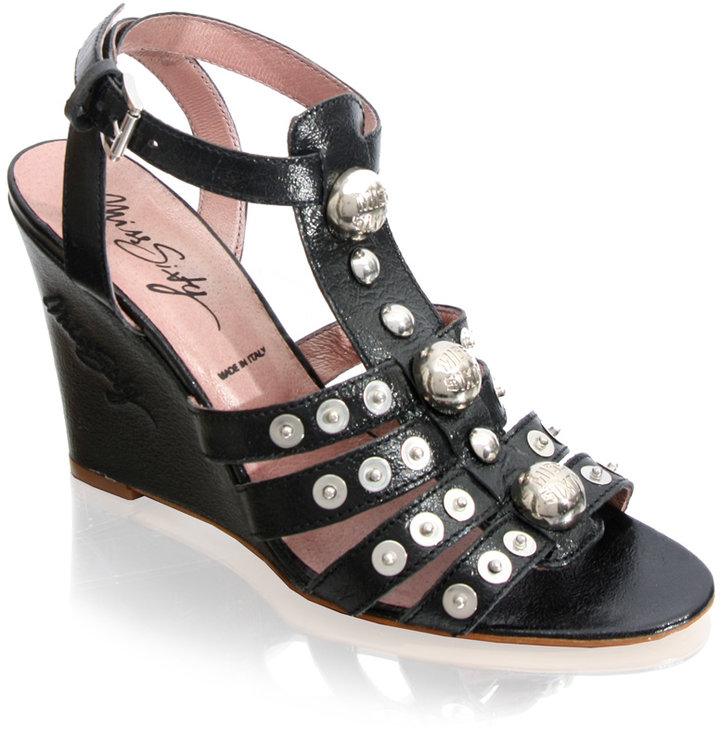 Miss Sixty Gladiator Studded Wedge Sandal