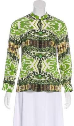 Alice + Olivia Printed Button-Up Blouse