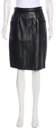 Jason Wu Leather Knee-Length Skirt