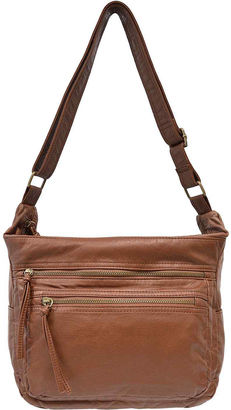 Bueno Of California Bueno Pearlized Washed Multi-Zipper Hobo Crossbody Bag $70 thestylecure.com