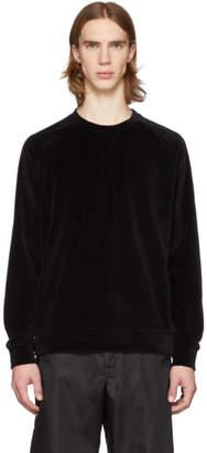 HUGO ブラック ベロア スウェットシャツ