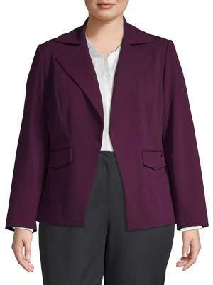 Calvin Klein Long-Sleeve Crepe Jacket