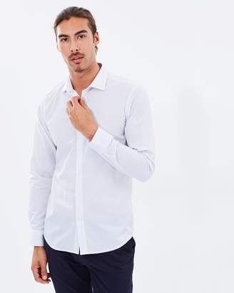 Brooksfield Luxe Micro Text Print Shirt