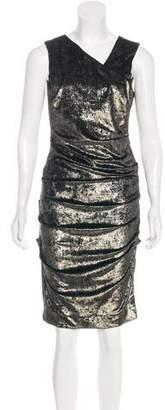 Nicole Miller Ruched V-Neck Dress