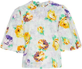 MSGM Floral-Print Cotton Top