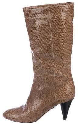 Loeffler Randall Snakeskin Knee-High Boots