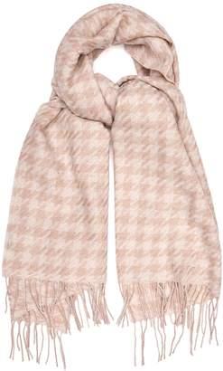 Reiss RENA LAMBSWOOL SCARF Blush/white