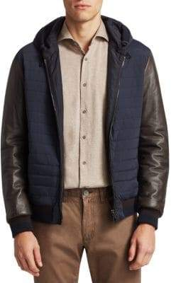 Saks Fifth Avenue COLLECTION Hooded Quit Jacket