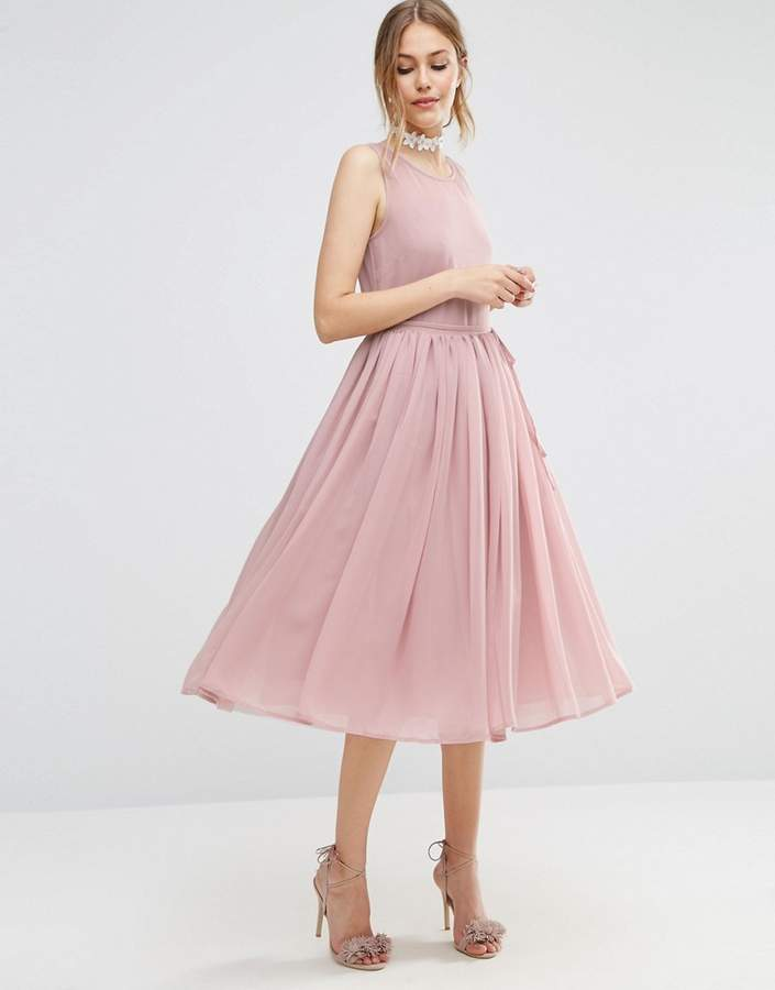 Asos ASOS Soft Midi Prom Dress