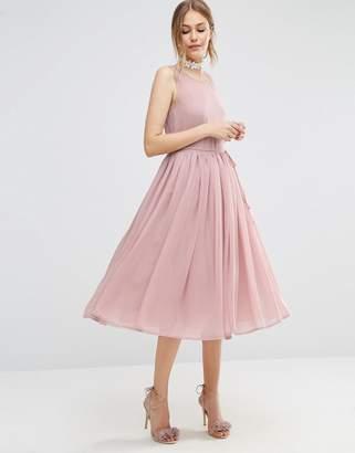Asos DESIGN Soft Midi Prom Dress