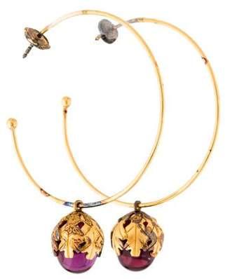 Baccarat Crystal Murmure Hoop Earrings
