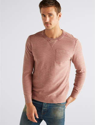 Lucky Brand WELTER WEIGHT WASHED POCKET CREW