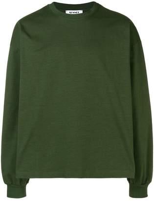 Sunnei backpack appliqué sweatshirt