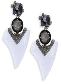 Alexis Bittar Lucite Crystal Thorn Drop Earrings $395 thestylecure.com