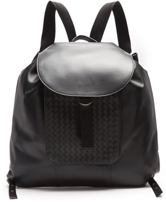 Intrecciato leather backpack