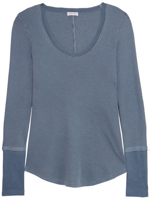 Splendid - Nordic Waffle-knit Stretch Supima Cotton And Micro Modal-blend Top - Petrol $105 thestylecure.com