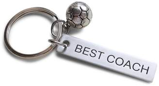 """Coach JewelryEveryday Soccer Gift, Appreciation Gift, Engraved """"Best Keychain"""
