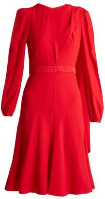 Alexander McQueen Scarf Neck Crepe Dress - Womens - Red
