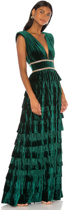 Bronx and Banco Velvet Flared Gown