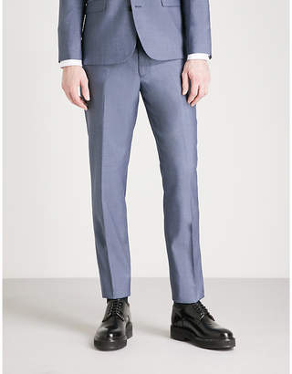 The Kooples Tapered wool and mohair-blend trousers