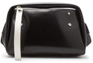 Proenza Schouler - Oversized Ciré Belt Bag - Womens - Black