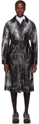 Christopher Kane Black Plastic Lace Trench Coat