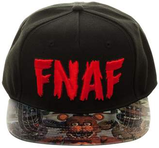 Bioworld Men's Five Nights at Freddy's - FNAF Logo - Sublimated Brim Velcro Hat O/S /Red