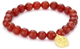 """Satya Jewelry Classics"""" Ganesha Carnelian Protection Stretch Bracelet"""