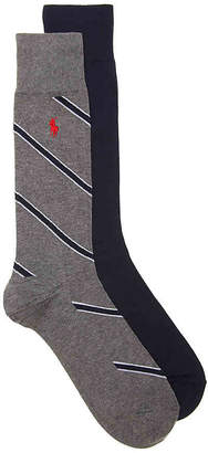 Polo Ralph Lauren Stripe Crew Socks - 2 Pack - Men's