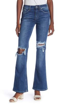 Free People Authentic Distressed Flared Leg Jeans