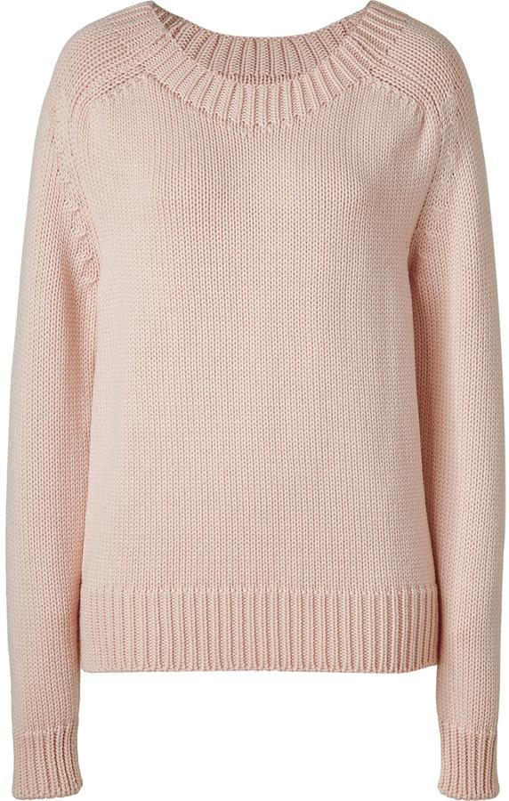 Jil Sander Bonbon Pink Wool Pullover