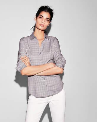 Express Plaid Long Sleeve Essential Shirt