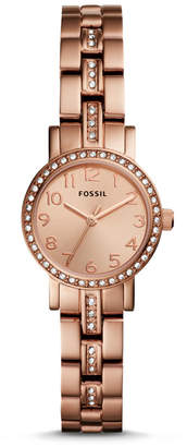 Fossil Shae Mini Three-Hand Stainless Rose Gold-Tone Steel Watch