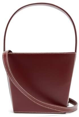 STAUD Edie Leather Bucket Bag - Womens - Burgundy