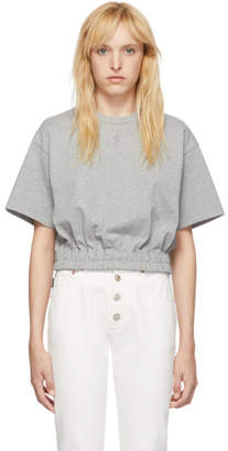 Opening Ceremony Grey Cropped Elastic T-Shirt
