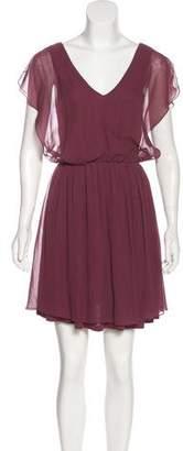 Alice + Olivia Mini Chiffon Dress