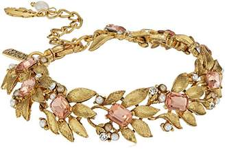 Badgley Mischka Metal Floral Bracelet